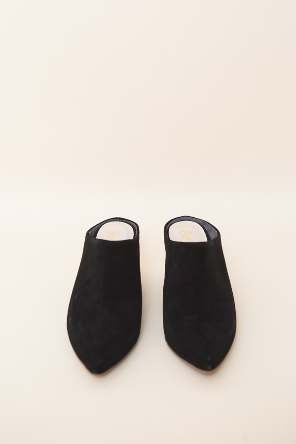 Seychelles Got the Answer Mules / Black Suede
