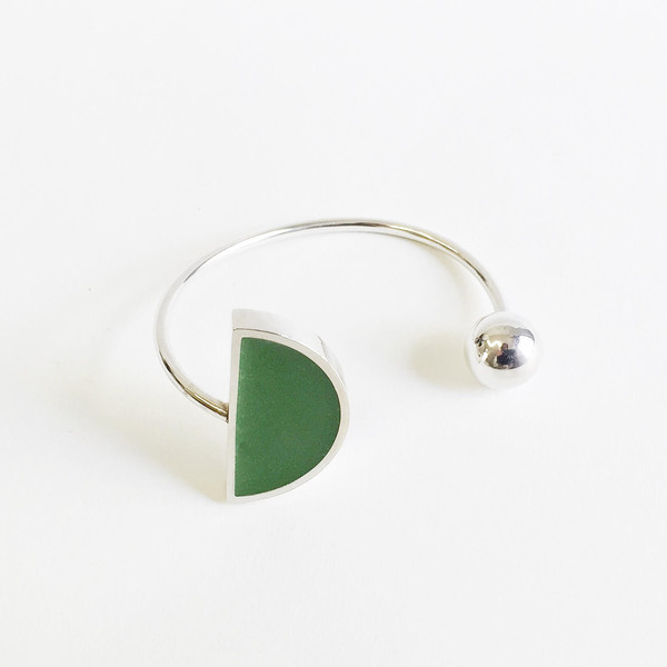 Karenn.la Green Semi-circle Cuff
