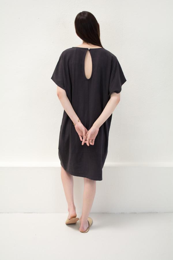 Micaela Greg Black Keyhole Dress