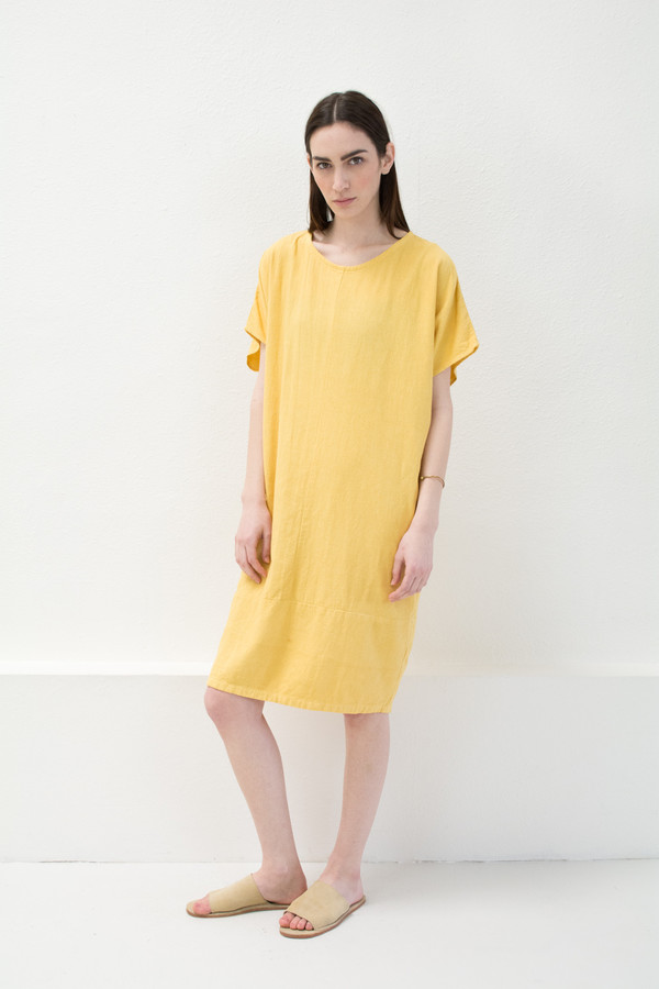 Yellow Keyhole Dress