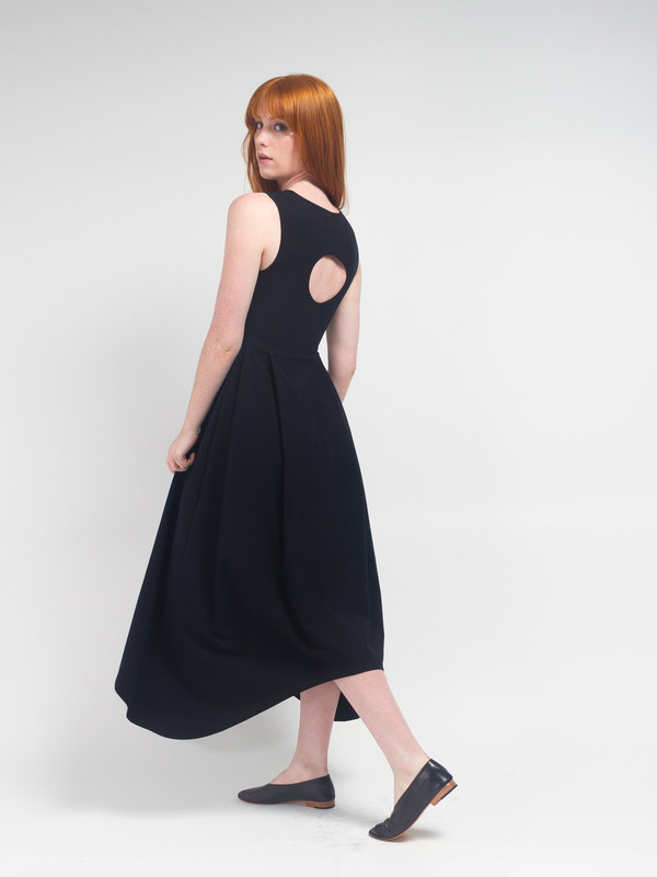 R/H Magic Long Dress Black