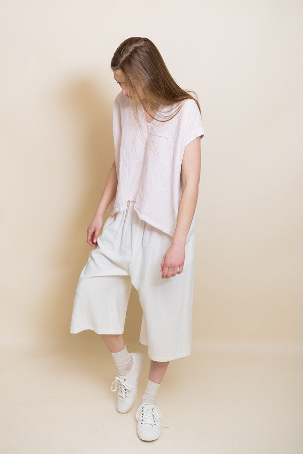 Micaela Greg Linen Culotte / White