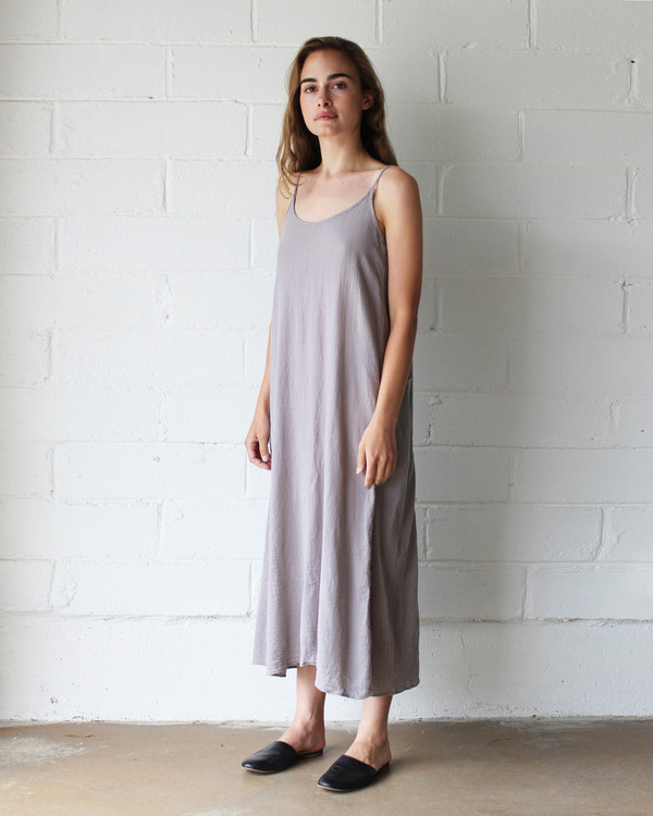 Esby LYLA SLIP DRESS - DRIFTWOOD