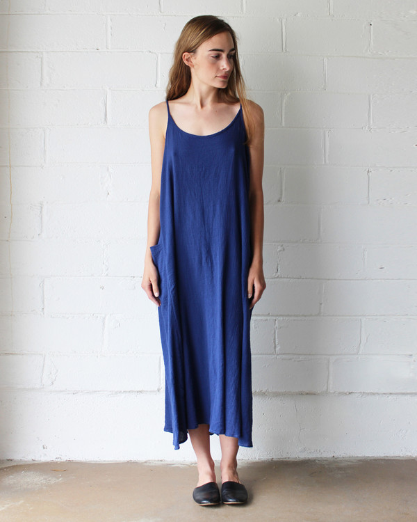 Esby LYLA SLIP DRESS - INDIGO
