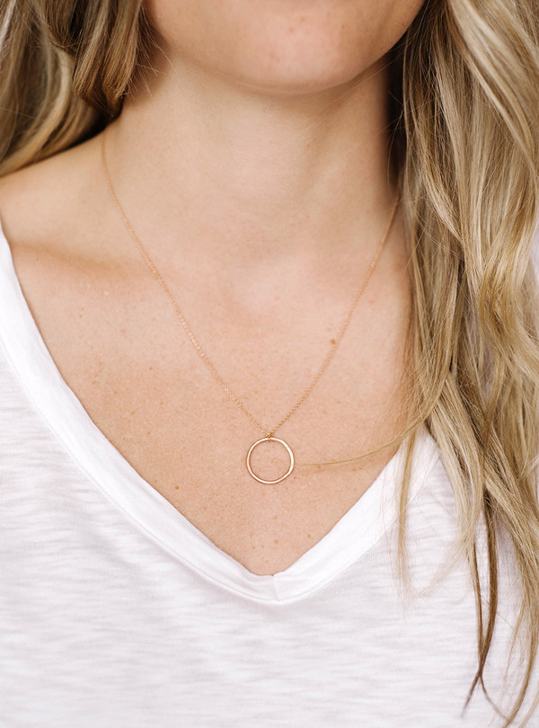 consider the wildflowers Simple Circle Necklace