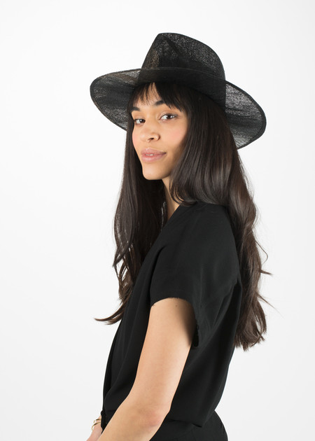 Reinhard Plank Laila Sisal Straw Hat - Black and Natural