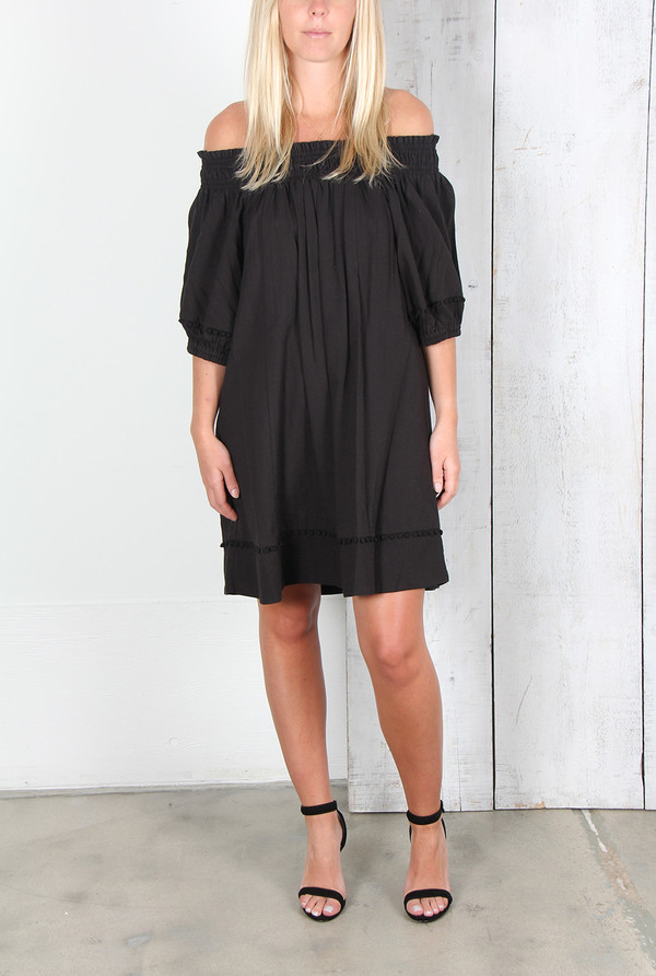 APIECE APART FELINA OFF-THE-SHOULDER DRESS