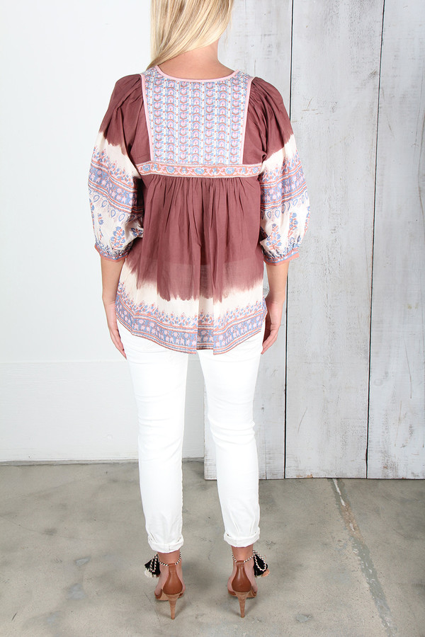 ULLA JOHNSON GLORIA PEASANT TOP