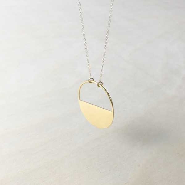Baleen Half-Open Circle Necklace