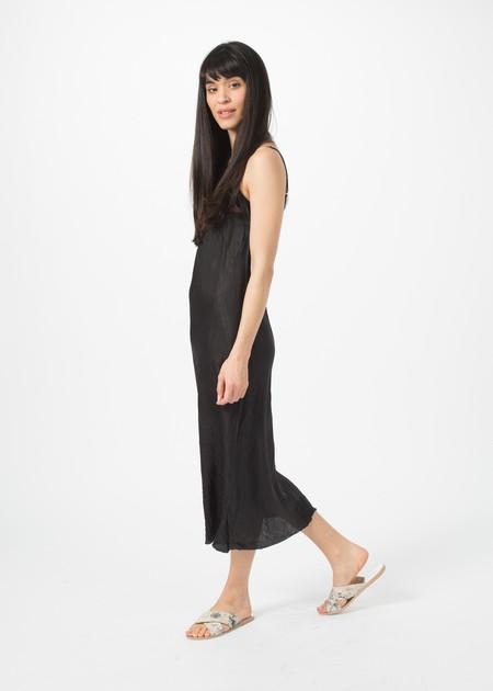 Organic by John Patrick Bias Slip Dress - Black