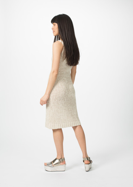 Organic by John Patrick Knit Tank Dress - Natural