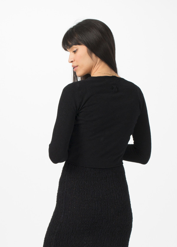 Hannes Roether Twist Cardigan - Black