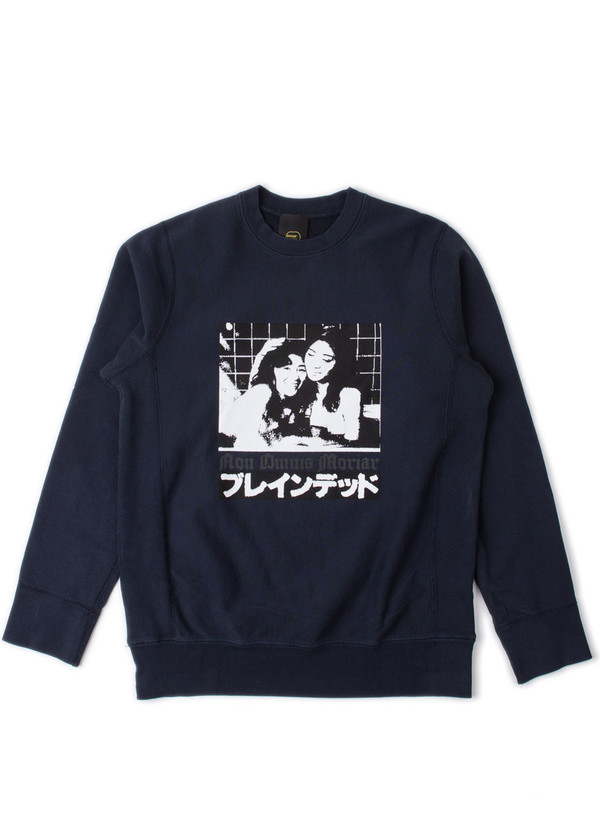 Men's Brain Dead Bather Crewneck Navy