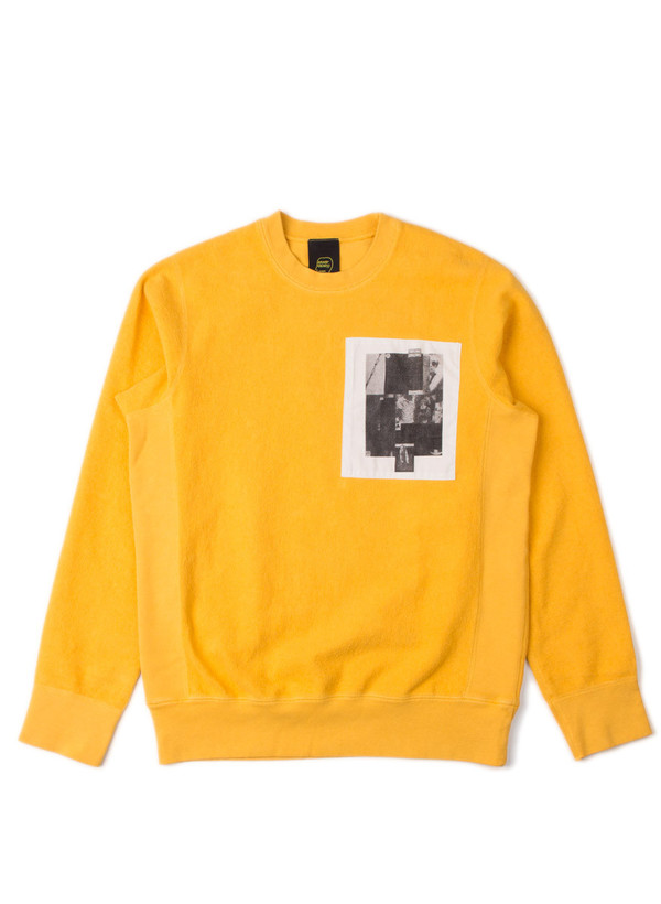 Men's Reverse French Terry Crew Yellow