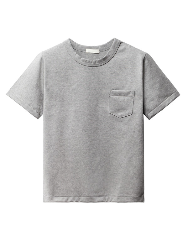 Niuhans Heavyweight Cotton Pocket Tee Grey