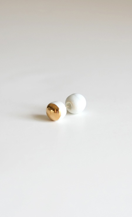 Jujumade gold dumbbell earring