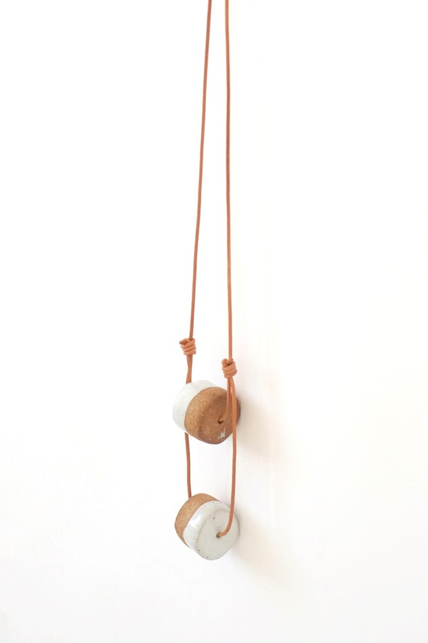 Jujumade double cylinder necklace