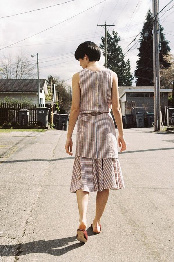 Caron Callahan Marianne Dress - peach