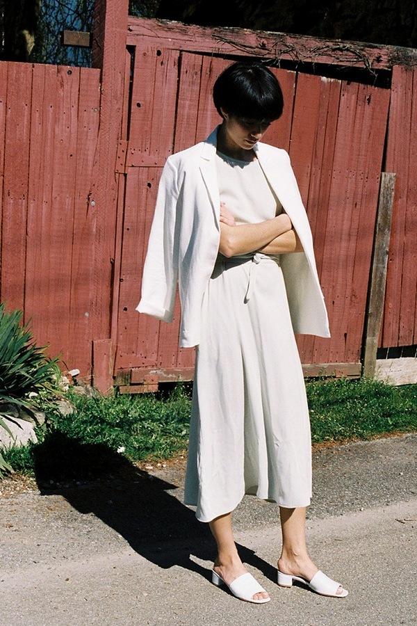 Jesse Kamm Coastal Blazer - white