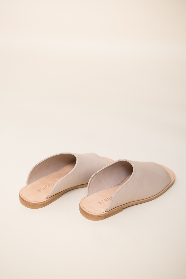St. Agni Hina Modern Slides / Nude Leather
