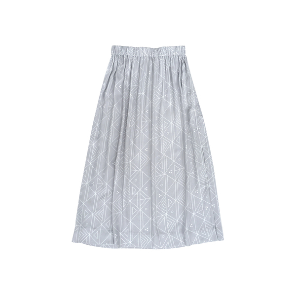 Ali Golden RAYON MIDI SKIRT - GREY PRINT
