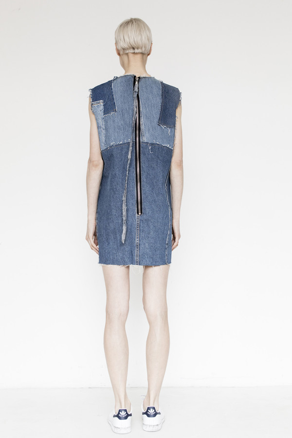 Assembly Denim Patchwork Shift Dress