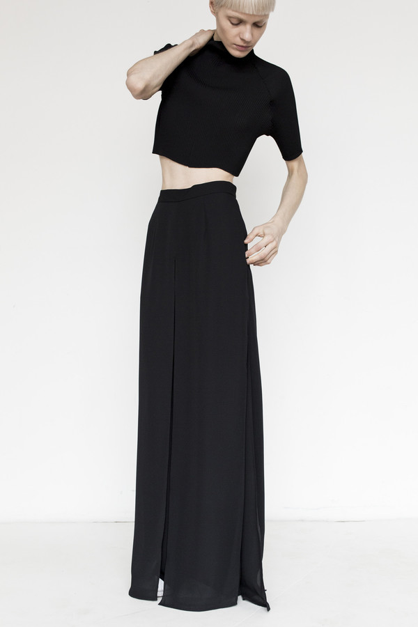 Kallmeyer Polyester Slit Layered Pant
