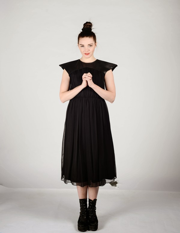 Brit Wacher Silk Peak Dress