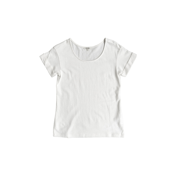 Ali Golden ROLL-SLEEVE T-SHIRT - CREAM