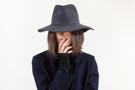 Clyde Pinch Hat Charcoal Wool