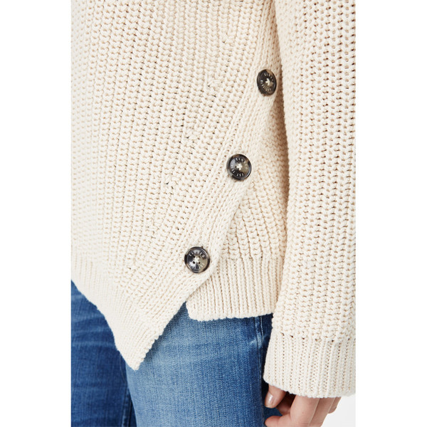 closed asymmetrical sweater