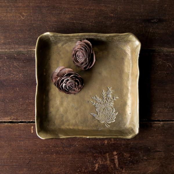 decorative brass tray