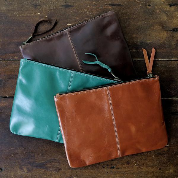 Erica Tanov leather clutch