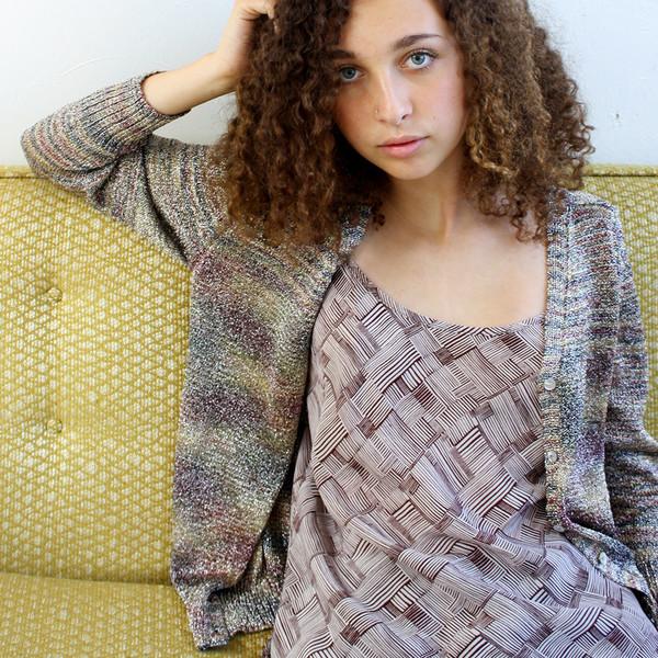 Erica Tanov shimmer raglan cardigan