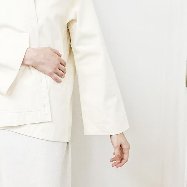 Johan Vintage Ivory Ultrasuede Work Jacket