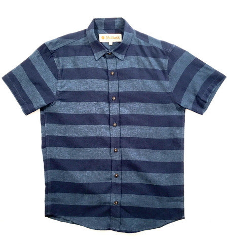 Men's Mollusk Summer Shirt Navy/Indigo