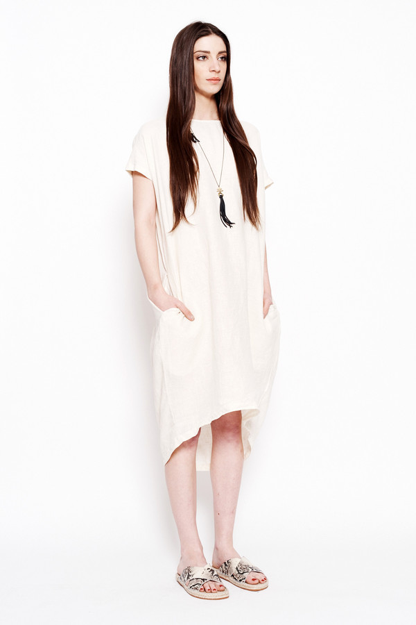 Black Crane Pleated Cocoon Dress