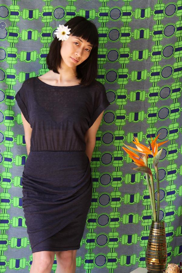 Eve Gravel Mango Dress