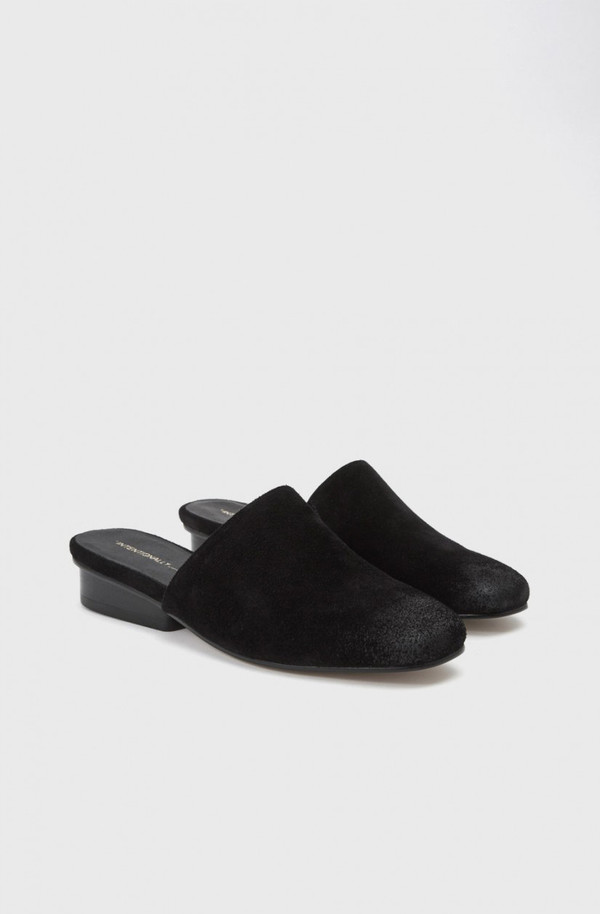 Intentionally Blank Suede Blank Touch Mule