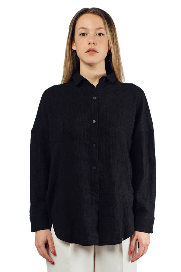 Priory Accona Shirt Black Mini Pane