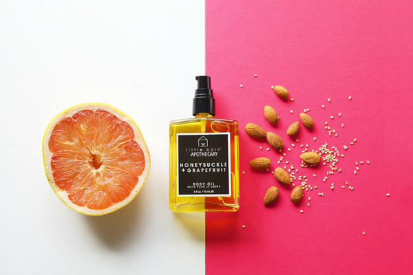 Little Barn Apothecary : Honeysuckle + Grapefruit Body Oil