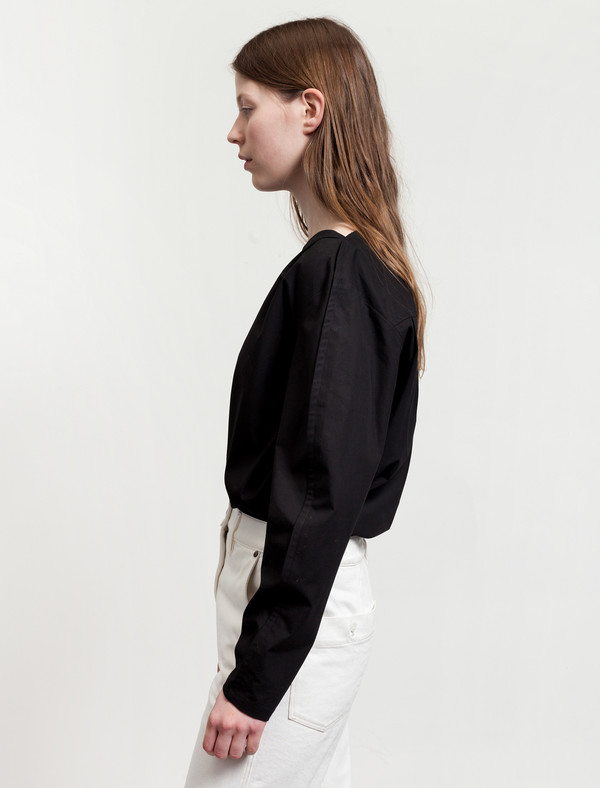 Lemaire Large Sleeve Blouse Black