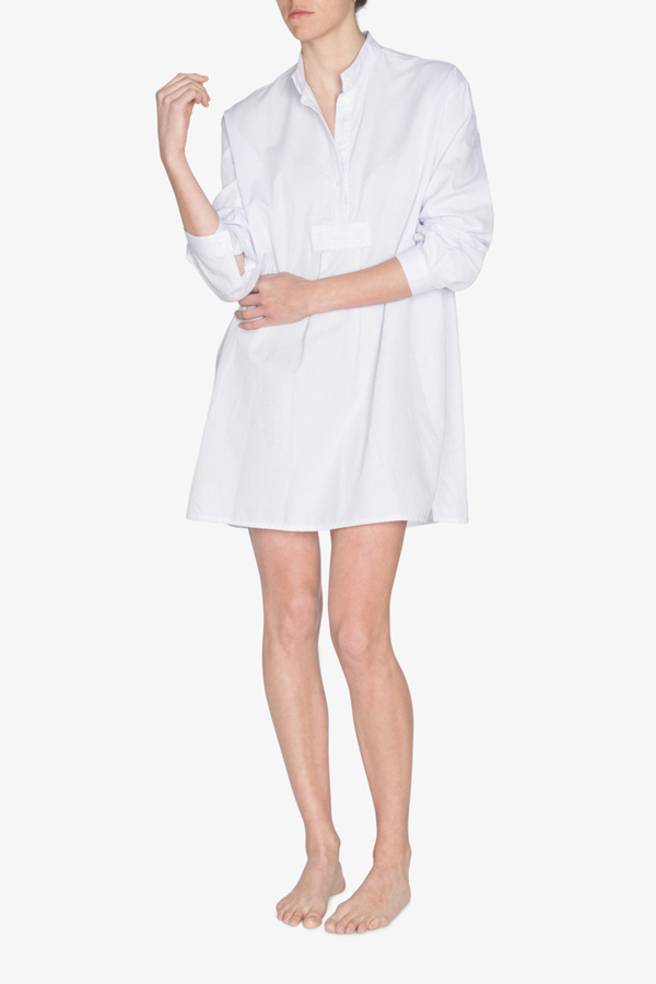 The Sleep Shirt Short Sleep Shirt Basket Weave Dot