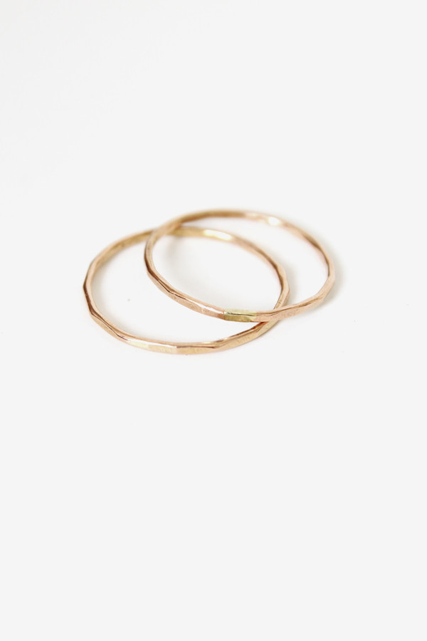 fiat lux rose gold solid band ring
