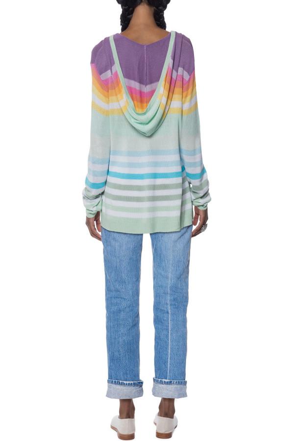 Mara Hoffman Rainbow Knit Pullover Hoodie