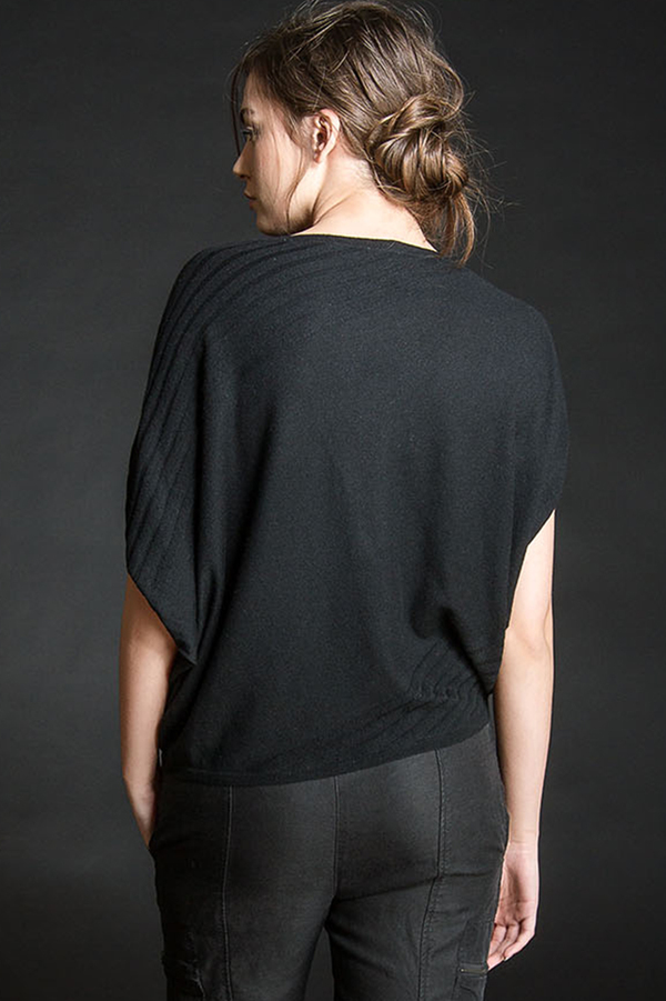 Paychi Guh Cashmere Asymmetrical Popover Black