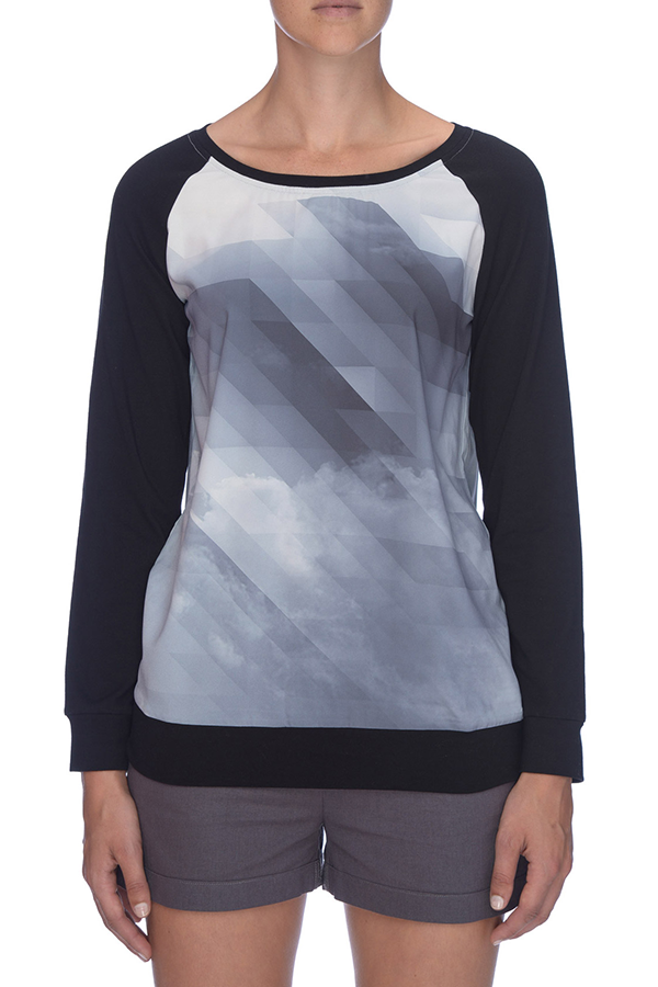 Against Nudity Cloud Print Jumper