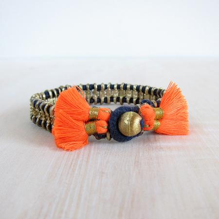 Bluma Project Cala bracelet - indigo/orange