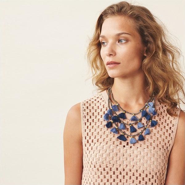 Bluma Project Gia necklace - denim
