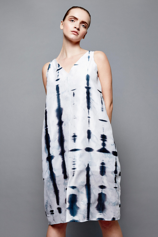 Devlyn Van Loon Shibori tank dress